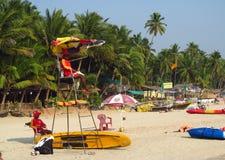 Временя в пляже Goa Стоковые Изображения RF