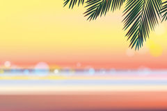 Временя на вечере пляжа Стоковая Фотография