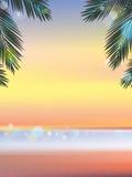 Временя на пляже выравнивая вертикаль Стоковая Фотография RF