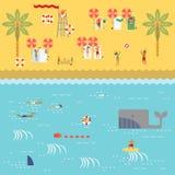 Временя на пляже Стоковые Изображения