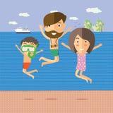 Временя на пляже Стоковое Изображение