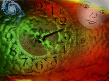 время абстрактного космоса опирающийся на определённую тему Стоковые Изображения RF