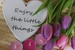 Время весны, день матерей, цветки и свечи, пинк, пурпур, симпатичное время, славный запах, симпатичные цвета, романтичные цвета,  Стоковые Фото