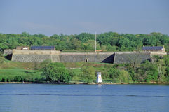 Время весны на национальный парк Потомаке, Вашингтоне форта, Вашингтон, DC Стоковое фото RF