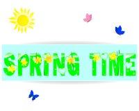 время весны ярлыка иллюстрация штока