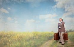 Время выхода на пенсию время путешествовать Стоковое Фото