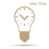 Время в электрической лампочке Стоковые Изображения