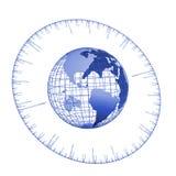 время глобуса иллюстрация вектора