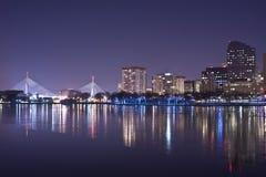 время горизонта ночи boston Стоковое фото RF
