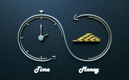 Время деньги, умные вклады иллюстрация вектора