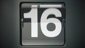 Время - 31 дни/секунда противопоставляют видеоматериал