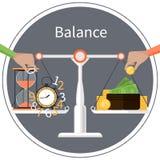 Время деньги Принципиальная схема управления бесплатная иллюстрация