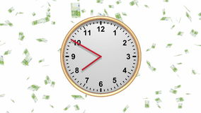 Время деньги - хронометрируйте с падая евро - петля HD видеоматериал