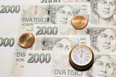 Время деньги - чех 8 Стоковое Изображение RF