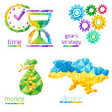 Время, деньги, шестерни, Украина бесплатная иллюстрация
