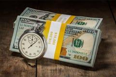 Время деньги Стоковое Изображение