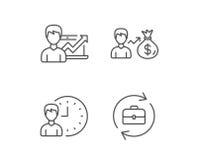 Время дела, случай портфолио и результаты работы бесплатная иллюстрация