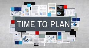 Время запланировать концепцию организации управления Стоковое фото RF