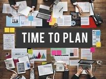 Время запланировать концепцию управления даты организатора Стоковое Фото