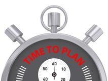 Время запланировать принципиальную схему Стоковые Изображения RF