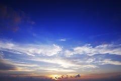 время захода солнца Стоковые Изображения RF