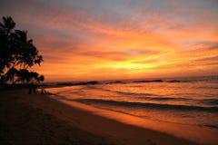 время захода солнца Стоковые Фотографии RF