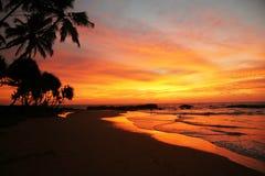 время захода солнца Стоковая Фотография RF