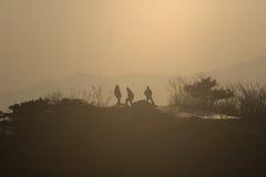 время захода солнца s Стоковое фото RF