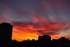 время захода солнца рискованного предприятия выдержки Стоковое фото RF
