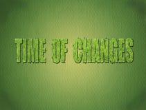 время изменений Стоковое фото RF
