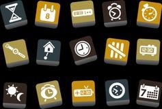 время иконы установленное иллюстрация штока