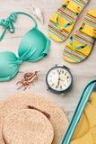 Время иметь морские остатки лета Стоковые Изображения