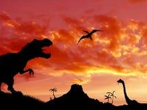 Время динозавров стоковые фотографии rf