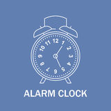 Время и знак часов Значок вахты Линия изолированная иллюстрация стиля конструкция самомоднейшая Стоковое Изображение RF