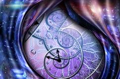 Время и пространство бесплатная иллюстрация