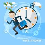Время карточка вектора концепции дела денег Стоковое фото RF