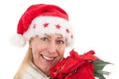 время конца рождества предпосылки красное вверх Стоковое Изображение RF