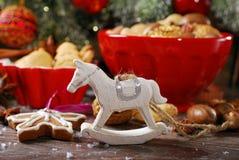 время конца рождества предпосылки красное вверх Стоковые Изображения