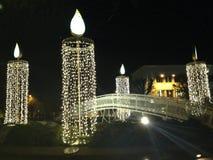 время конца рождества предпосылки красное вверх Стоковая Фотография