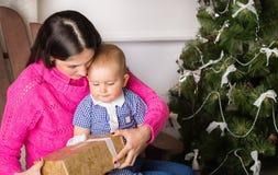 время конца рождества предпосылки красное вверх Стоковая Фотография RF