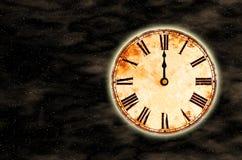 время космоса 12 часов o Стоковая Фотография
