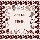 Время кофе - иллюстрация Стоковые Изображения