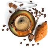 Время кофе, съемка сверху Стоковая Фотография