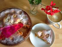 Время кофе с тортом Стоковое Изображение