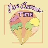 Время мороженого Стоковые Изображения