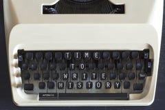 Время написать истории мотивационное сообщение Стоковая Фотография RF