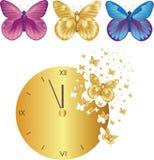 время нося отсутствующих бабочек Стоковые Фотографии RF