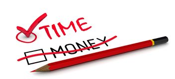 Время но не деньги Концепция изменять заключение бесплатная иллюстрация