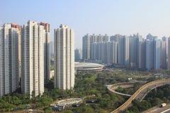 время дня tseung kwan o, Гонконга стоковое фото