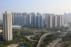 время дня tseung kwan o, Гонконга стоковая фотография rf